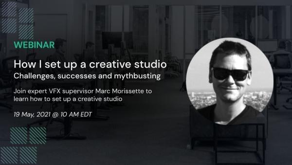 Setting up a creative studio webinar